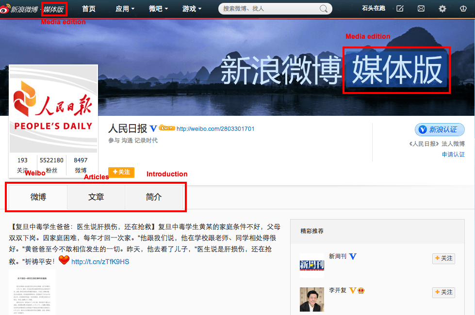 Sina Segmenting Weibo Usage with Multiple Versions